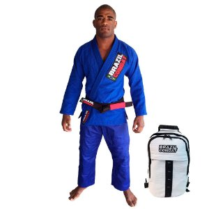 Kimono Starter Azul Mais Mochila Kimono Branca Brazil Combat