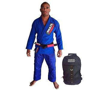 Kimono Starter Azul Mais Mochila Kimono Preta Brazil Combat