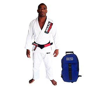 Kimono Starter Branco Mais Mochila Kimono Azul Brazil Combat