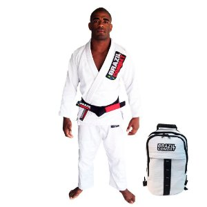 Kimono Starter Branco Mais Mochila Kimono Branca Brazil Combat