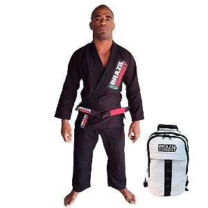 Kimono Starter Preto Mais Mochila Kimono Branca Brazil Combat