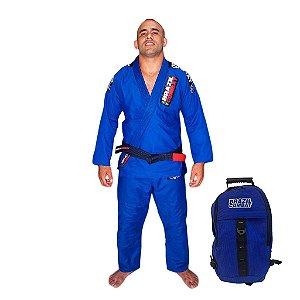 Kimono JiuJitsu XtraLite Azul Mais Mochila Kimono Azul Brazil Combat