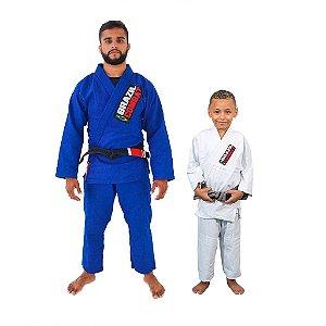 Kit 1 Adulto Starter Azul e 1 Infantil Reforçado Branco