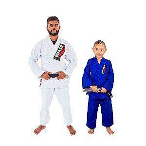 Kit 1 Adulto Starter Branco e 1 Infantil Reforçado Azul