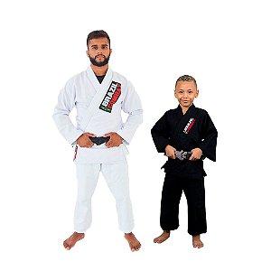 Kit 1 Adulto Starter Branco e 1 Infantil Reforçado Preto