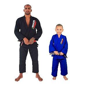 Kit 1 Adulto Starter Preto e 1 Infantil Reforçado Azul