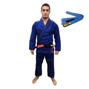 Kimono Jiu-JItsu ZComp Azul com Faixa Azul Zion