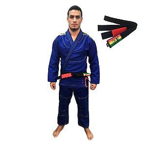 Kimono Jiu-JItsu ZComp Azul com faixa Preta Zion