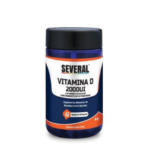 Vitamina D 2000UI 250mg Several® - 60 cápsulas