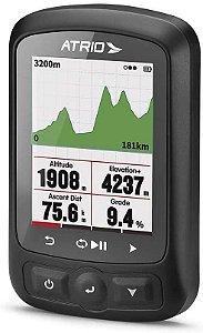 GPS Atrio Titanium Ciclismo Resistente à Água Recarregável Preto - BI155 Com Sensor de Cadência e Cinta Cardíaca