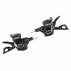 Alavancas de câmbio Shimano Esquerda e Direita SLX SL-M700011 - 11 Velocidades Com Mostrador