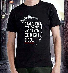 Camiseta/Babylook Bukowski 'Problema Comigo'