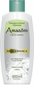 SHAMPOO AMAZONI HIDRATANTE CREM ARGILA BRANCA 400 ML
