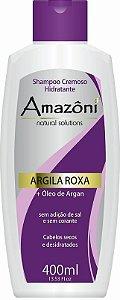 SHAMPOO AMAZONI HIDRATANTE ARGILA ROXA 400 ML