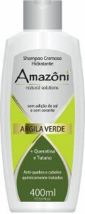 SHAMPOO AMAZONI HIDRATANTE ARGILA VERDE 400 ML