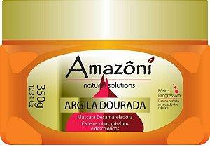 MÁSCARA DESAMARELADORA AMAZONI ARGILA DOURADA 350 GR