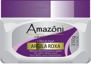 MÁSCARA RECONSTRUTORA AMAZONI ARGILA ROXA 350 GR