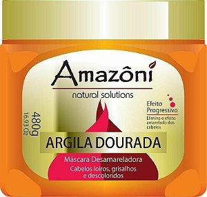 MÁSCARA DESAMARELADORA AMAZONI ARGILA DOURADA 480 GR