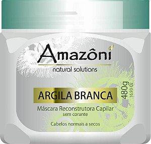 MÁSCARA RECONSTRUTORA AMAZONI ARGILA BRANCA 480 GR