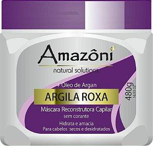 MÁSCARA RECONSTRUTORA AMAZONI ARGILA ROXA 480 GR