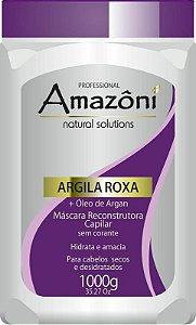 MÁSCARA RECONSTRUTORA AMAZONI ARGILA ROXA 1 KG