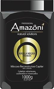 MÁSCARA RECONSTRUTORA AMAZONI ARGILA NEGRA 1 KG