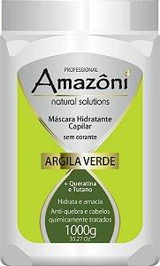 MÁSCARA RECONSTRUTORA AMAZONI ARGILA VERDE 1 KG