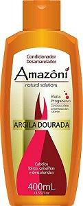 CONDICIONADOR AMAZONI DESAMARELADOR ARGILA DOURADA 400 ML