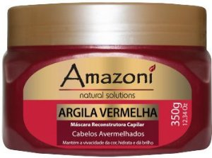 MÁSCARA RECONSTRUTORA AMAZONI ARGILA VERMELHA 350g