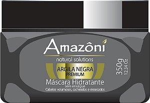 MÁSCARA HIDRATANTE AMAZONI ARGILA NEGRA SEM ENXAGUE 350 GR