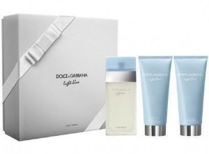 Kit Light Blue Feminino Eau De Toillete 100ml + Body Cream 100ml + Shower Gel 100ml Dolce Gabbana