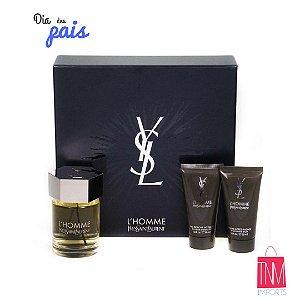 Kit L'Homme Yves Saint Laurent (Perfume + Sabonete liquido + Pós Barba)