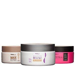 Cronograma Capilar para Loiras - Mister Hair (Blonde + Max Repair + Ultra)