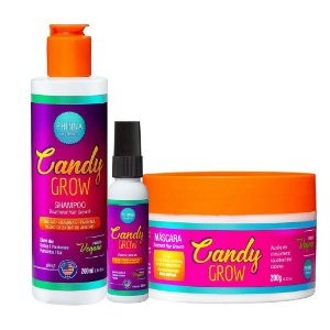 Kit Candy Grow (Shampoo + Máscara + Tônico) - Phinna