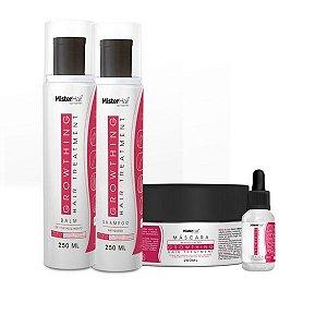 Kit Crescimento e Fortalecimento (Shampoo + Balm + Tônico + Máscara)