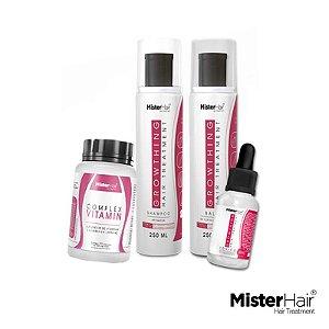 Kit Fortalecimento e Crescimento - Mister Hair
