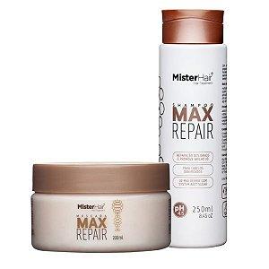 kit Max Repair (Shampoo e Máscara) - Mister Hair