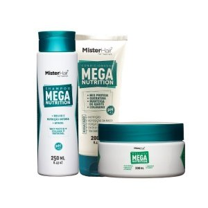 Kit Mega Nutrition (Shampoo, Máscara e Condicionador) - Mister Hair