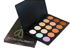 Jasmyne - Paleta de corretivos Facial Facebeauty 15 cores