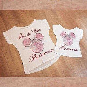 T-Shirt - Vestido, Adulto - Infantil - Feminino - Tal Mãe Tal Filha Cód.  1273
