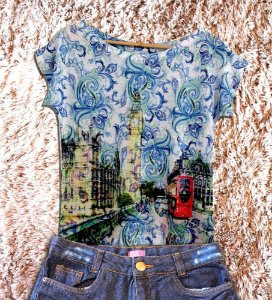 T-Shirt modelo Babylook Cód.  2874