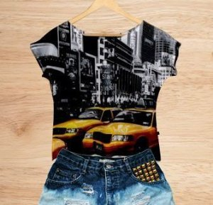 T-Shirt modelo Babylook Cód.  3597