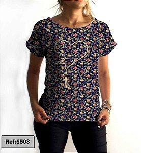 T-Shirt - Vestido, Adulto - Infantil - Feminino - Tal Mãe Tal Filha Cód. 5508