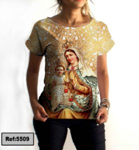 T-Shirt - Vestido, Adulto - Infantil - Feminino - Tal Mãe Tal Filha Cód. 5509
