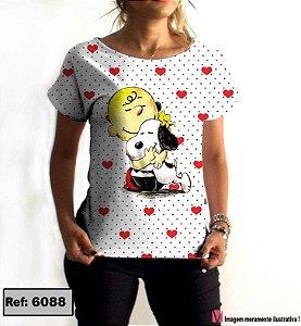 T-Shirt modelo Babylook Cód. 6088