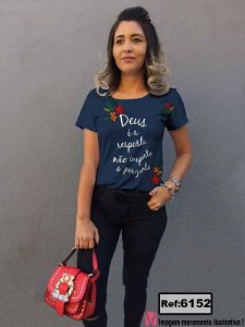 T-Shirt modelo Babylook Cód. 6152
