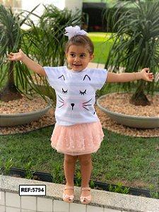 T-Shirt - Vestido, Adulto - Infantil - Feminino - Tal Mãe Tal Filha Cód. 5794