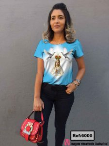 T-Shirt modelo Babylook Cód. 6000