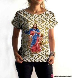 T-Shirt - Vestido, Adulto - Infantil - Feminino - Tal Mãe Tal Filha Cód. 6013