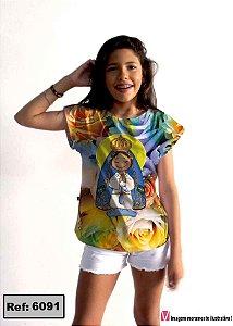 T-Shirt - Vestido, Adulto - Infantil - Feminino - Tal Mãe Tal Filha Cód. 6091